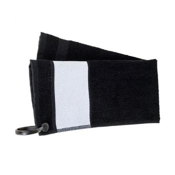 Personalised Deluxe Golf Towel - Black